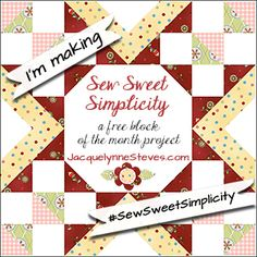Choose applique, embroidery, or just piecing for this free Block of the Month. #sewsweetsimplicity #BOM #Blockofthemonth