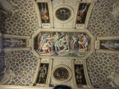 Stunning ceiling in the Emperors' room, PALAZZO TE MANTOVA ITALY _BM