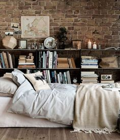 I love the books and muted colors... the brick makes but but like I don't have brick so yeah