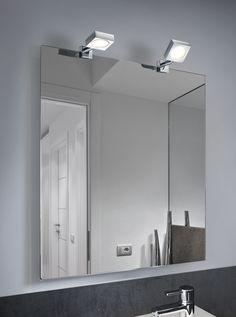 H2O peili klipsu spotti neliö LED 2x4 W 2 kpl/pakkaus IP44
