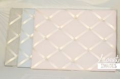 This beautiful pearl fabric makes fantastic memory boards for baby's nursery, children's rooms or really anywhere your looking for something simple and chic.  It comes in pink, blue, gray and lavender.  Contact me at capturesweetimages@gmail.com for pricing. #nurserydecor #babyboy #babygirl #photodisplay #memoryboard #memoryboards #childrensroom #watchmegrow