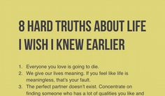 Once You Learn These 8 Hard Truths About Life, You%u2019ll Become Much Stronger