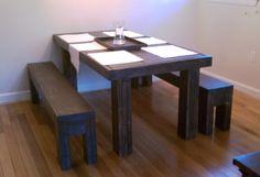 7 foot Farm table / Modern Reclaimed dining room set / 7 foot farmhouse table. $749.00, via Etsy.