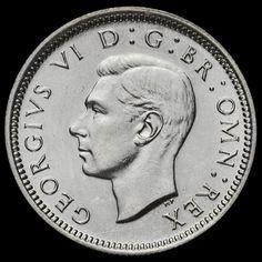 1938George VI Silver Sixpence, Scarce, EF