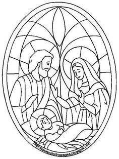 coloring printables catholic // holy family