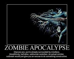 ...plus, in a REAL zombie apocalypse, shooting things with guns is not only accepted, but encouraged.