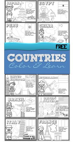 123 Homeschool 4 Me: FREE 18 Countries of the World Book