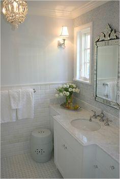 White on white elegant bathroom