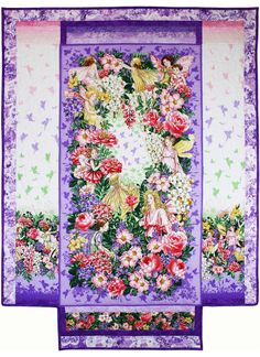 A gorgeous Fairy Dream Panel by Marinda Stewart using some gorgeous Flower Fairies fabrics from Michael Miller