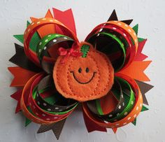 Hey, I found this really awesome Etsy listing at https://www.etsy.com/listing/246317859/pumpkin-feltie-hair-bow-headband