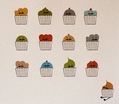 How 'bout some mustache on your cupcakes? Mustache, Cupcakes, Moustache, Cupcake, Moustaches, Cupcake Cakes, Brioche