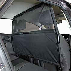 "Paws 'N' Claws - Deluxe Dog Barrier 50"" Wide - Ideal for Smaller Cars, Trucks, and SUV's - Patent Pending - Pet Restraint Car Backseat Divider Vehicle Gate Cargo Area Paws 'n' Claws http://www.amazon.com/dp/B0076A0M6Y/ref=cm_sw_r_pi_dp_t4Zuwb198Y5DD"