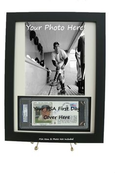 fbe6f2633 Sports Memorabilia Frame & Display for a PSA Slabbed First Day Cover w/ 8 x  10 Vertical Photo Opening