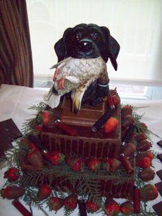 duck hunting wedding cake