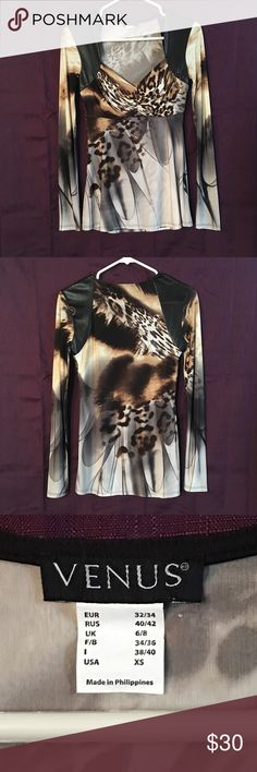 SWEATSHIRT MAMA CLOTHING BOLD LADIES FASHION ANIMAL PRINT FUN