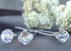 Image result for wedding blue crystal hair accessories