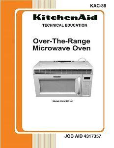 REPAIR MANUAL: KITCHENAID Microwave