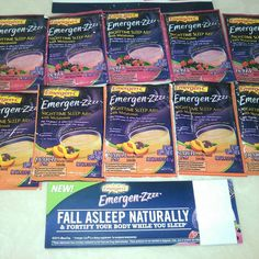 """""""#freesample Emergen-Zzzz: 1. Does not """"keep"""" you asleep, it only helps you fall asleep. 2. Should not be used by anyone under the age of 19. I received…"""""""