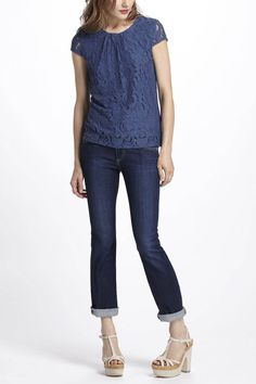 Roiled Lace Tee - Anthropologie.com