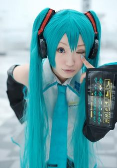 This is an example of Japanese cosplay. Cosplay is a combination of the word costume and play, which is dressing up like animated characters. This trend started in Japan.