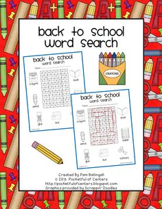Back to School Word Search {Freebie}