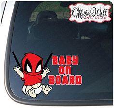 "Deadpool ""Baby On Board"" Sticker for Cars"