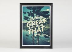 Greatness - Quote Print Limited Edition. $25.00, via Etsy.