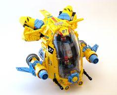 """High & Mighty"" by Genghis Don Legos, Lego Words, Construction Lego, Lego Machines, Amazing Lego Creations, Lego Ship, Lego Spaceship, Lego Craft, Lego Mechs"