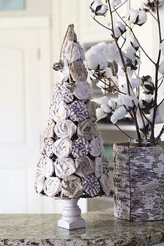 rosette christmas tree diy