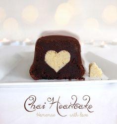 Chai-Schoko-Herzerl-Kuchen