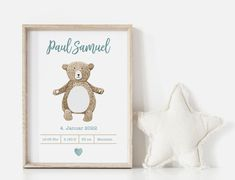Personalisierte Geburtsposter, Babyposter, Kinderzimmer Baby Poster, Nursery Prints, Punch, Birth, Place Cards, Wall Decor, Place Card Holders, Models, Frame