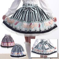 Bodyline L192 Heart Chocolate Sweet Biscuit Skirt MINT « Lace Market: Lolita Fashion Sales and Auctions