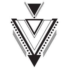 Large Geometric Art Deco Temporary Tattoo #TattooSleeves