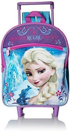 5476151f43e Disney Girls  Elsa 12 Rolling Backpack Two Side Mesh Pockets Front Pocket ·  Travel LunchesKids BackpacksSchool ...