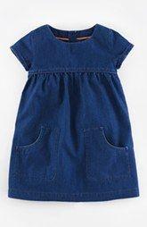 Mini Boden 'Easy Pocket' Short Sleeve Dress (Toddler Girls, Little Girls & Big Girls)