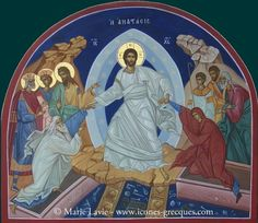 resurrection jesus christ icon by Marie Lavie