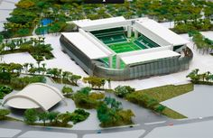 Mockup of Arena Pantanal. Cuiabá City, Mato Grosso State- Brazil