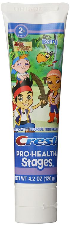 Crest Pro-Health Stages Jake And The Neverland Pirates Kid's Toothpaste 4.2 Ounce (Pack of 12) ** For more information, visit now : Teeth Whitening