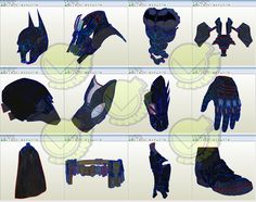 Batman V 8.04 Costume Template / Pattern Pepakura 3D Model
