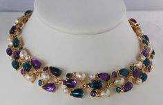 Vintage jewelry necklace by Trifari in gold by DevineCollectible, $350.00