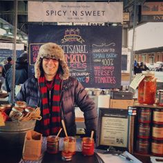 Table is set 'n ready to feed you NYC. We're at @newamsterdammarket today till 5! Swing by to meet all the families! #spicynswee...