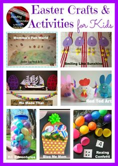 Mom to 2 Posh Lil Divas: Easter Crafts and Activities for Kids - The Sunday Showcase 3/16/13
