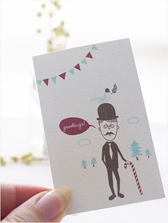 Greetings from a mustachioed man! Free to print. Here's the link: http://www.eatdrinkchic.com/post.cfm/mini-greeting-card-and-letter-writing-set-freebies