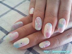 パステルカラーのラブリーなネイル (Lovely pastel nail)