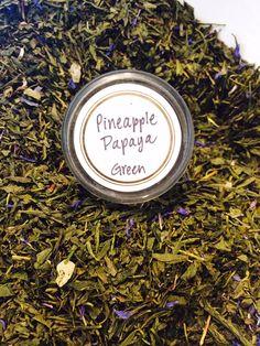 Pineapple Papaya Organic Loose Leaf Green Tea by TreehouseTeas on Etsy