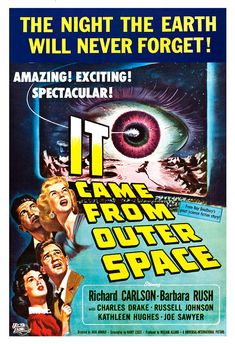 It Came From Outer Space  Sci Fi Movie Poster Print  by jangoArts, $19.50
