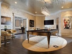Glamour at its finest with this high-fashion #entertainmentroom!