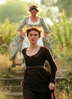 Keira Knightley in Pride & Prejudice (2005): empire dress in movies based on Jane Austen's books