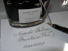 Spencerian script sample written with a Namiki Falcon fountain pen. Totally want!