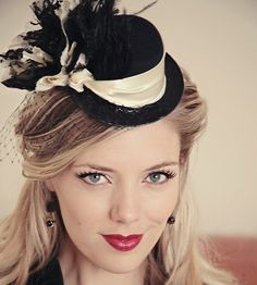 Steampunk hat in cappuccino and black lace by TutusChicBoutique, $65.00